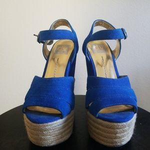 "6"" Royal Blue Wedge sandle 🍬"